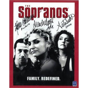 Sopranos Triple Signed by Furio, Ade, Janice Autographed 8x10 Faces Photo (DA COA)
