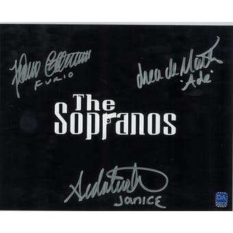 Sopranos Triple Signed by Furio, Ade, Janice Autographed 8x10 Title Photo (DACW COA)