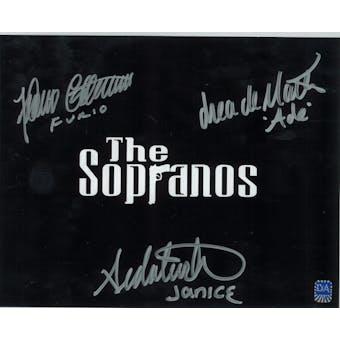 Sopranos Triple Signed by Furio, Ade, Janice Autographed 8x10 Title Photo (DA COA)