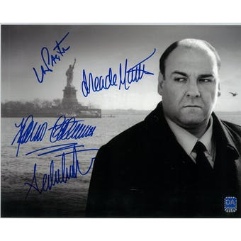 Sopranos Quad Signed Sal, Furio, Ade, Janice Autographed 8x10 Statue Photo (DACW COA)