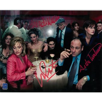 Sopranos Triple Signed by Sal, Ade, Janice Autographed 8x10 Party Photo (DA COA)
