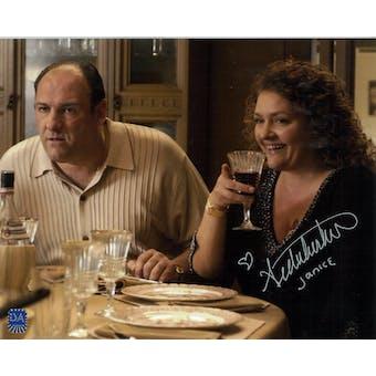 Aida Turturro Autographed 8x10 Sopranos Wine Photo (DACW COA)
