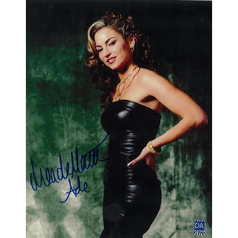 Drea de Matteo Autographed 8x10 Sopranos Leather Photo (DACW COA)
