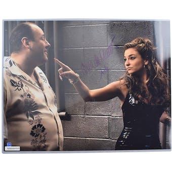 Sopranos Drea de Matteo Autographed 16x20 Tony Soprano Photo (DA COA)