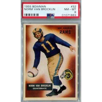 1955 Bowman #32 Norm Van Brocklin PSA 8 (NM-MT) *1883
