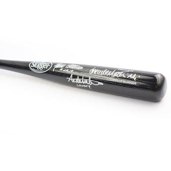 Sopranos Triple Signed by Furio, Ade, Janice Autographed Black Baseball Bat (DACW COA)