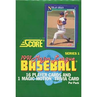 1991 Score Series 1 Baseball Wax Box