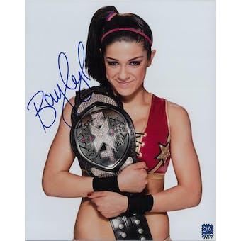 Bayley WWE Pamela Martinez Autographed 8x10 Belt Wrestling Photo