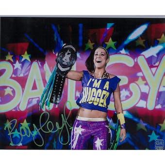 Bayley WWE Pamela Martinez Autographed 8x10 Hugger Wrestling Photo