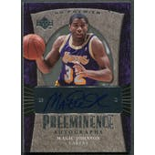 2007/08 Upper Deck Premier #PEMJ Magic Johnson Preeminence Auto #04/50