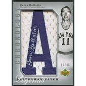 """2006/07 Chronology #205 Harry Gallatin Letterman """"A"""" Patch Auto #10/40"""