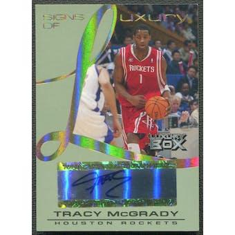2004/05 Topps Luxury Box #TM Tracy McGrady Signs of Luxury Auto #27/30