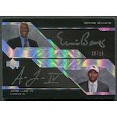 2007/08 UD Black #BL Ernie Banks & Acie Law IV Dual Auto #08/25