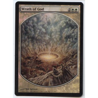 Magic the Gathering Promo Wrath of God Foil (Textless) Playset of 4 - SLIGHT PLAY (SP)