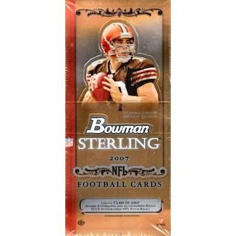 2007 Bowman Sterling Football Hobby Box