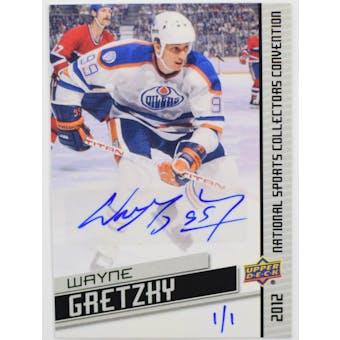 2012 Upper Deck Wayne Gretzky Autographed Card MSCC-WG #1/1