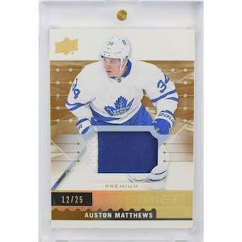 2016/17 Premier Auston Matthews Patch Rookie Card R-50 #12/25