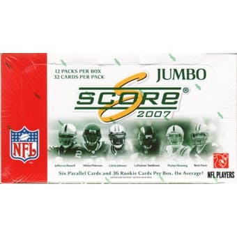 2007 Score Football Jumbo Box