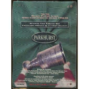 1992/93 Parkhurst Update Set Hockey Box