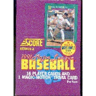 1991 Score Series 2 Baseball Wax Box (Reed Buy)