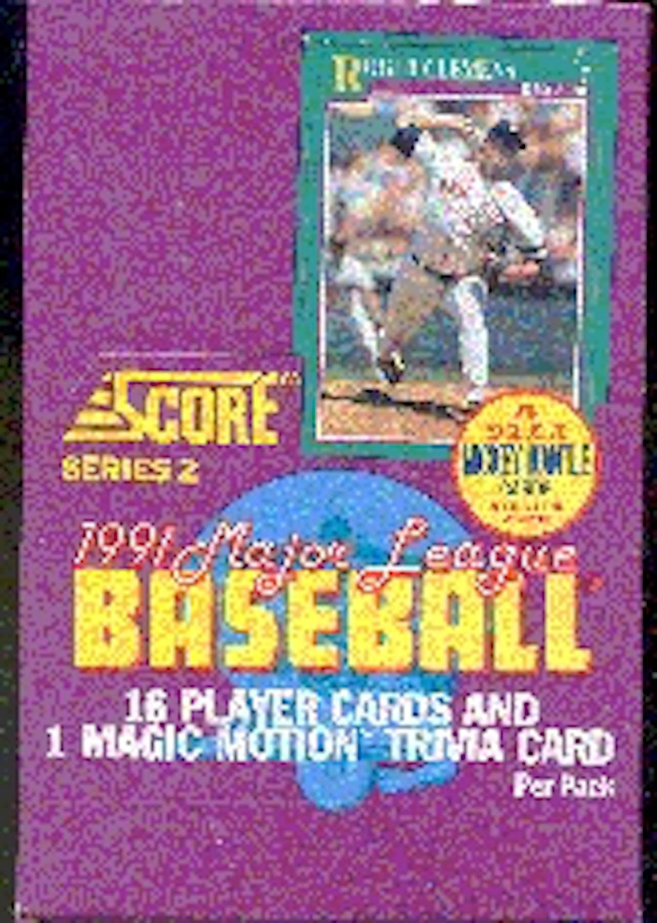 1991 Score Series 2 Baseball Wax Box Da Card World