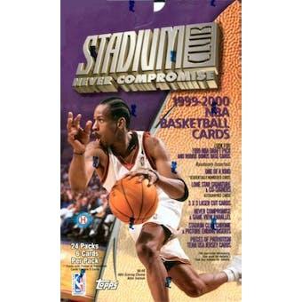 1999/00 Topps Stadium Club Basketball Hobby Box