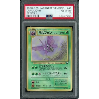 Pokemon Japanese Vending Series 2 Venomoth  PSA 10 GEM MINT