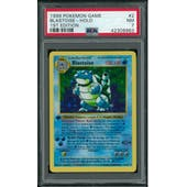 Pokemon Base Set 1st Edition Shadowless Blastoise 2/102 PSA 7