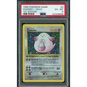 Pokemon Base Set 1st Edition Shadowless Chansey 3/102 PSA 6