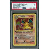 Pokemon Base Set 1st Edition Shadowless Charizard 4/102 PSA 5
