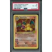 Pokemon Base Set 1st Edition Shadowless Charizard 4/102 PSA 6