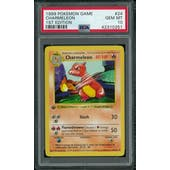 Pokemon Base Set 1st Edition Shadowless Charmeleon 24/102 PSA 10 GEM MINT