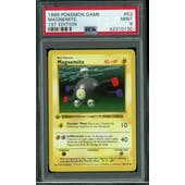 Pokemon Base Set 1st Edition Shadowless Magnemite 53/102 PSA 9