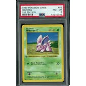 Pokemon Base Set 1st Edition Shadowless Nidoran 55/102 PSA 8