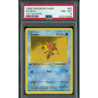Pokemon Base Set 1st Edition Shadowless Staryu 64/102 PSA 8