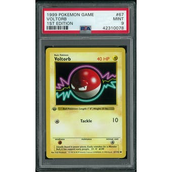 Pokemon Base Set 1st Edition Shadowless Voltorb 67/102 PSA 9