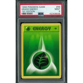 Pokemon Base Set 1st Edition Shadowless Grass Energy 99/102 PSA 9