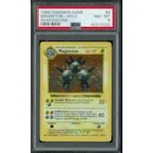 Pokemon Base Set 1 Shadowless Magneton 9/102 PSA 8
