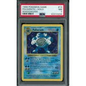 Pokemon Base Set 1 Shadowless Poliwrath 13/102 PSA 7