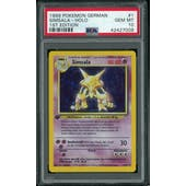 Pokemon Base Set 1st Edition GERMAN Alakazam Simsala 1/102 PSA 10 GEM MINT