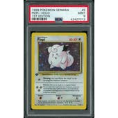 Pokemon Base Set 1st Edition GERMAN Clefairy Piepi 5/102 PSA 9