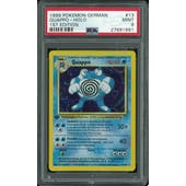 Pokemon Base Set 1st Edition GERMAN Poliwrath Quappo 13/102 PSA 9