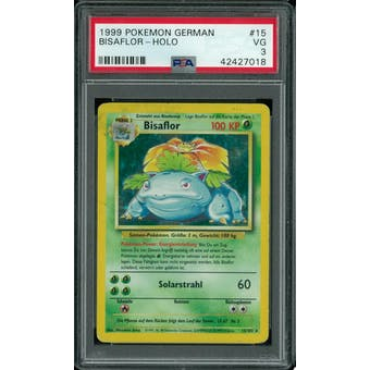 Pokemon Base Set Unlimited GERMAN Venusaur Bisaflor 15/102 PSA 3