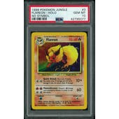 Pokemon Jungle No Set Symbol Error Flareon 3/64 PSA 10 GEM MINT