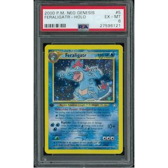 Pokemon Neo Genesis 1st Edition Feraligatr 5/111 PSA 6