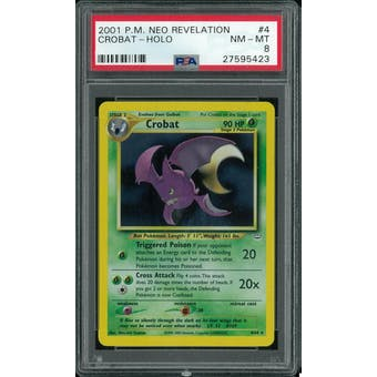 Pokemon Neo Revelation Crobat 4/64 PSA 8