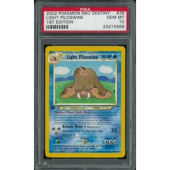 Pokemon Neo Destiny 1st Edition Light Piloswine 26/105 PSA 10 GEM MINT