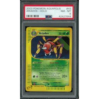 Pokemon Aquapolis Ariados H3/H32 PSA 8