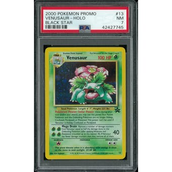 Pokemon Black Star Promo Venusaur 13 PSA 7