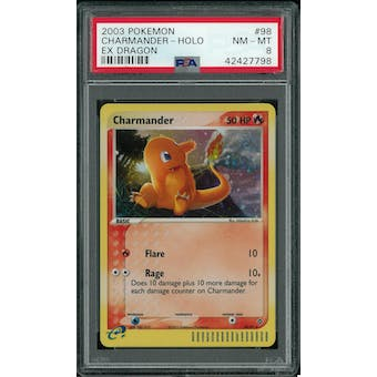 Pokemon EX Dragon Charmander 98/97 PSA 8